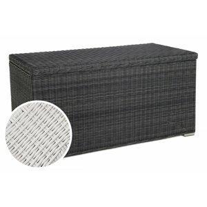 Záhradný úložný box polyratan 1037L Biela