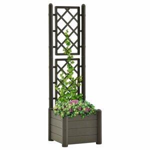 Záhradný kvetináč s treláží 43 x 43 x 142 cm PP Dekorhome Antracit