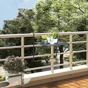 Závesný balkónový stolík čierna Dekorhome