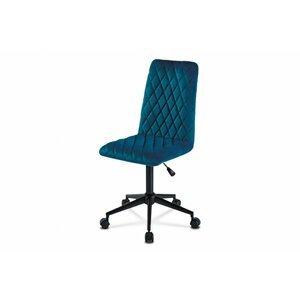 Detská kancelárska stolička KA-T901 látka / kov Autronic Modrá
