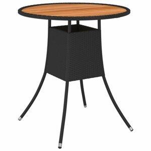 Záhradný jedálenský stôl Ø 70 cm čierny Dekorhome