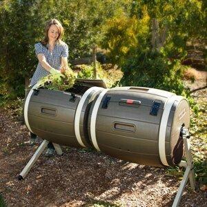 Dvojitý rotačný kompostér 380l Dekorhome