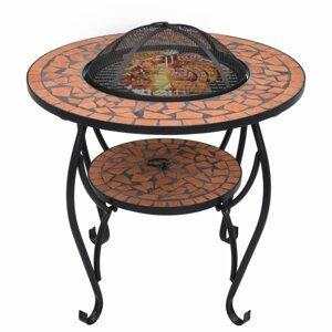 Mozaikový stolík s ohniskom Dekorhome