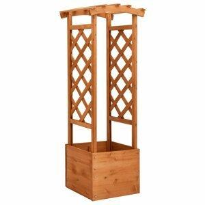 Truhlík trelážovým oblúkom 49x 39x130 cm drevo Dekorhome