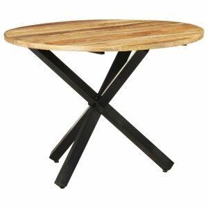 Jedálenský stôl 100 cm masívne drevo / oceľ Dekorhome