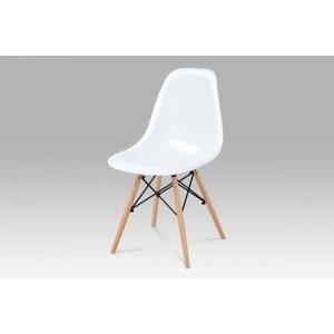 Jedálenská stolička CT-718 WT1 biela / buk Autronic