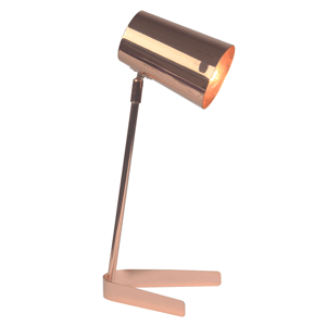Stolná lampa FABEL kov Tempo Kondela Ružové zlato