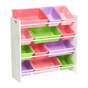 Regál na hračky MAISAN biela / viacfarebná Tempo Kondela