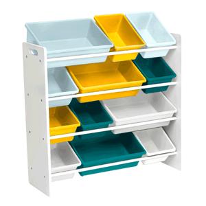 Regál na hračky MADY biela / viacfarebná Tempo Kondela