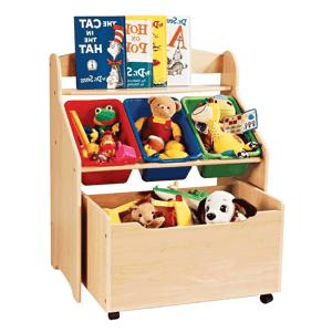 Regál na hračky MAISIE prírodná / viacfarebná Tempo Kondela
