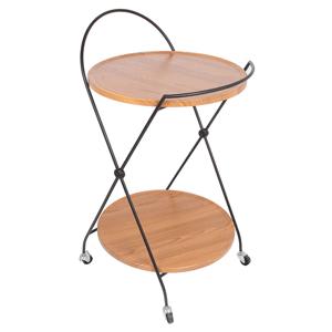 Servírovací stolík MEDARO orech / čierna Tempo Kondela