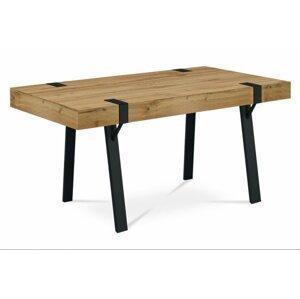 Jedálenský stôl divoký dub / čierna Autronic