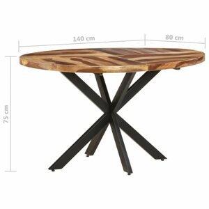 Jedálenský stôl akácie / čierna Dekorhome 140x80x75 cm