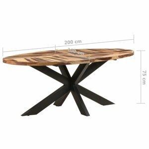 Jedálenský stôl akácie / čierna Dekorhome 200x100x75 cm