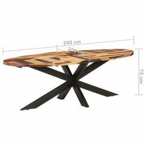 Jedálenský stôl akácie / čierna Dekorhome 240x100x75 cm