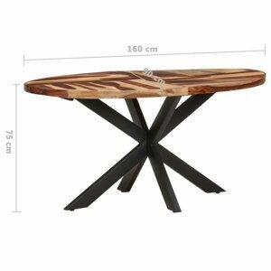 Jedálenský stôl akácie / čierna Dekorhome 160x90x75 cm