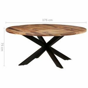 Jedálenský stôl akácie / čierna Dekorhome 175x175x75 cm