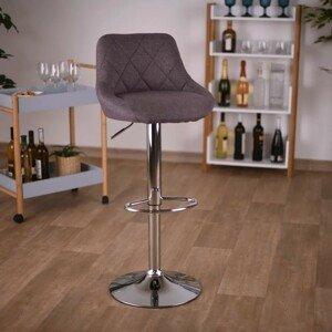Barová stolička MARID hnedá látka / chróm Tempo Kondela