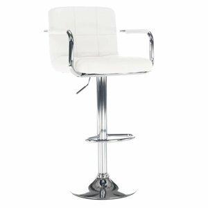 Barová stolička LEORA 2 NEW ekokoža / kov Tempo Kondela Biela