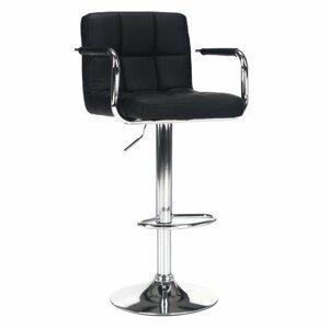 Barová stolička LEORA 2 NEW ekokoža / kov Tempo Kondela Čierna