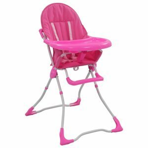 Detská jedálenská stolička Dekorhome Ružová
