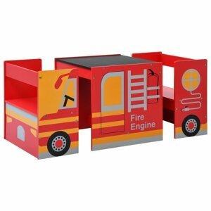 Detský set hasičské auto Dekorhome