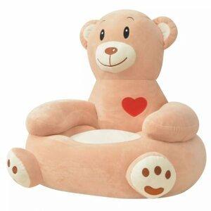 Detské kreslo plyš Dekorhome Medveď