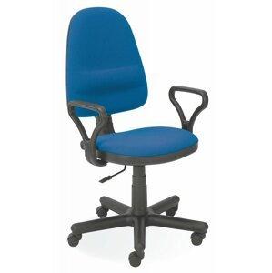 Kancelárska stolička BRAVO látka / plast Halmar Modrá