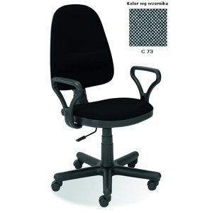Kancelárska stolička BRAVO látka / plast Halmar Sivá / čierna