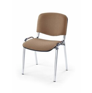 Konferenčná stolička ISO látka / kov Halmar Béžová