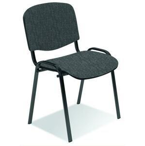 Konferenčná stolička ISO látka / kov Halmar Tmavosivá