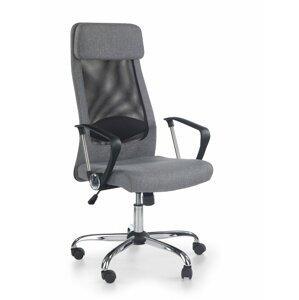 Kancelárske kreslo ZOOM sivá / čierna / chróm Halmar