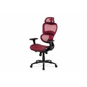 Kancelárska stolička KA-A188 sieťovina / kov Autronic Červená