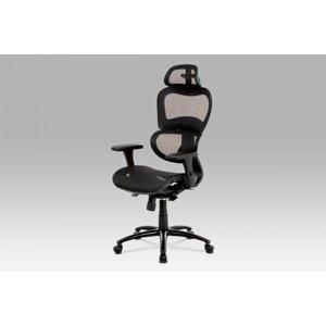 Kancelárska stolička KA-A188 sieťovina / kov Autronic Čierna