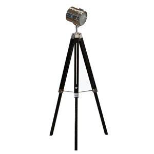 Stojaca lampa CINDA Typ 26 čierna / chróm Tempo Kondela
