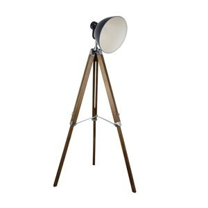 Stojaca lampa CINDA Typ 27 antracit / prírodné drevo Tempo Kondela