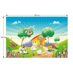 Detský koberec JENNY vzor farma Tempo Kondela 100x150 cm