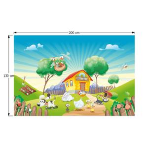 Detský koberec JENNY vzor farma Tempo Kondela 130x200 cm