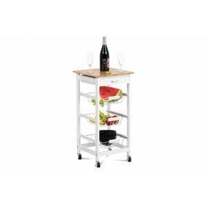 Servírovací stolek DR-043 bílá / bambus Autronic