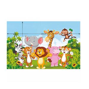 Detský koberec XANDER vzor safari Tempo Kondela 100x150 cm