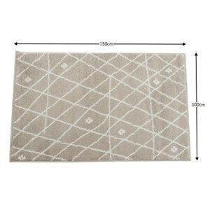 Koberec TYRON béžovo biela / vzor Tempo Kondela 100x150 cm