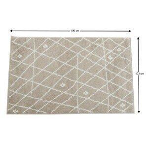 Koberec TYRON béžovo biela / vzor Tempo Kondela 133x190 cm