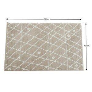 Koberec TYRON béžovo biela / vzor Tempo Kondela 160x235 cm