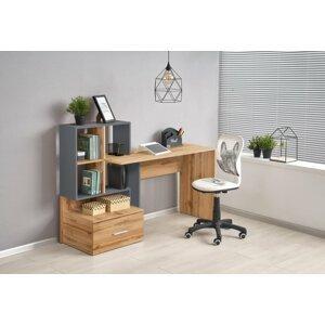 Písací stôl s úložným priestorom GROSSO Halmar Antracit