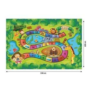 Detský koberec ZOAN vzor ZOO Tempo Kondela 150x100 cm
