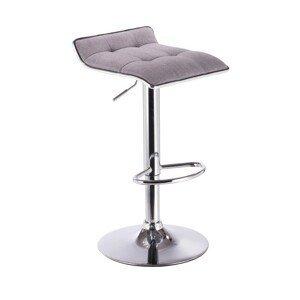 Barová stolička FUEGO sivá / chróm Tempo Kondela