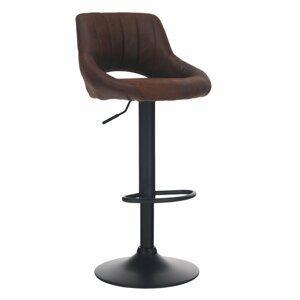 Barová stolička LORASA látka / kov Tempo Kondela Hnedá