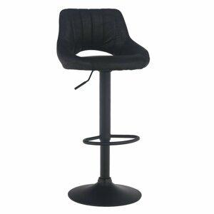 Barová stolička LORASA látka / kov Tempo Kondela Čierna