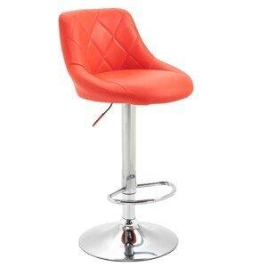 Barová stolička MARID ekokoža / kov Tempo Kondela Červená