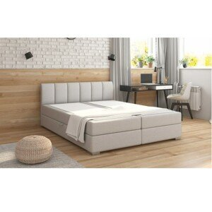 Boxpringová posteľ RIANA KOMFORT svetlosivá Tempo Kondela 180 x 200 cm